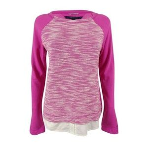 Tommy Hilfiger Pink Athleisure Athluxe sweater